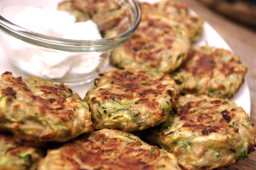 Baked Zucchini Dill Fritters
