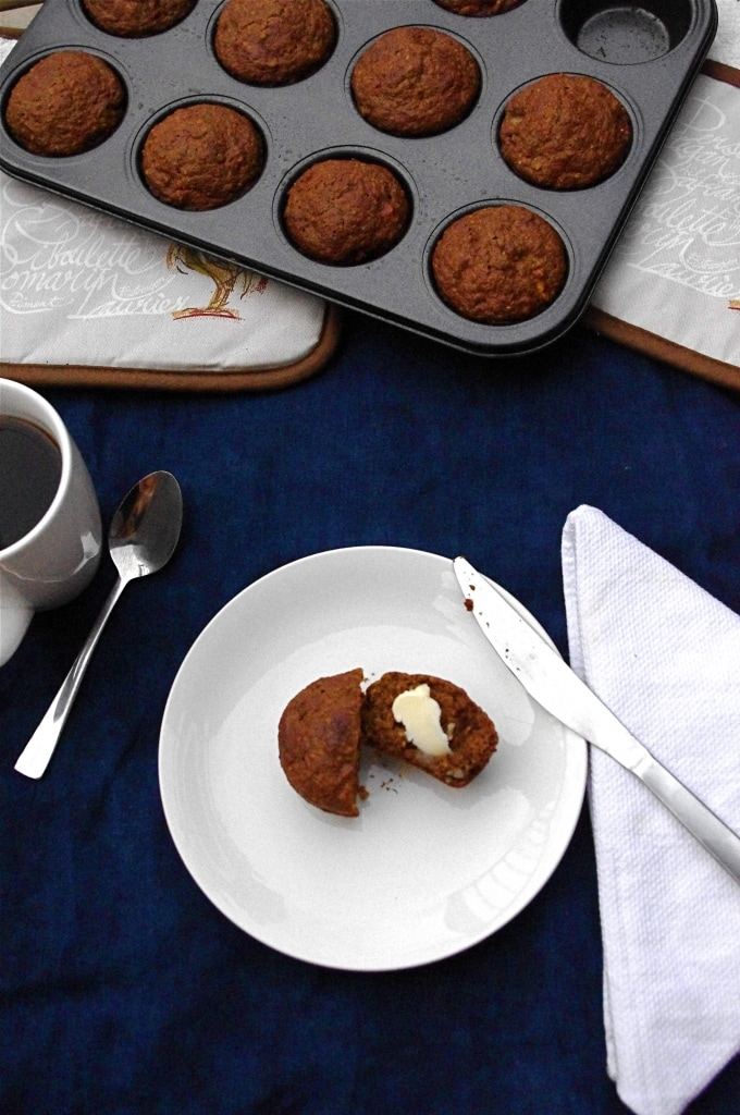 Apple, Pecan & Quinoa Muffins