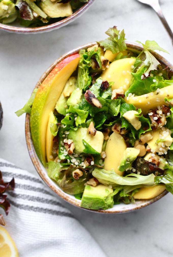 My Favorite Beautifying Mango Avocado & Walnut Salad