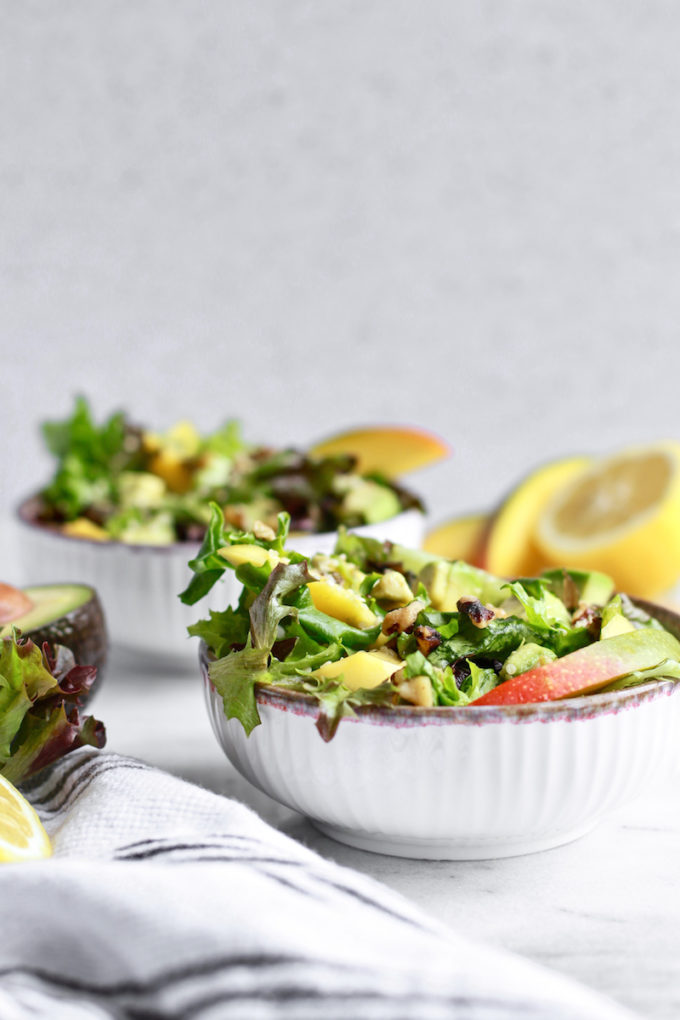 Delicious Beautifying Mango Avocado & Walnut Salad
