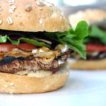 Portobello Mushroom & Caramelized Onion Burgers