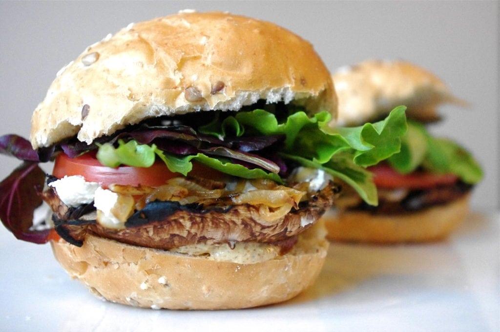 Portobello Mushroom & Caramelized Onion Burger