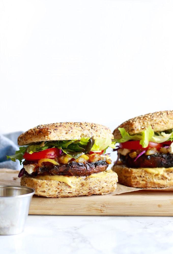 Best Ever Portobello Mushroom Burgers