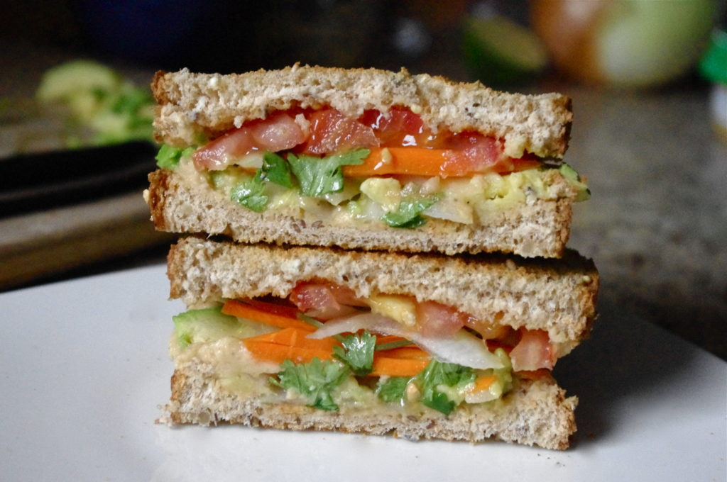 Avocado & Spiced Hummus Sandwich