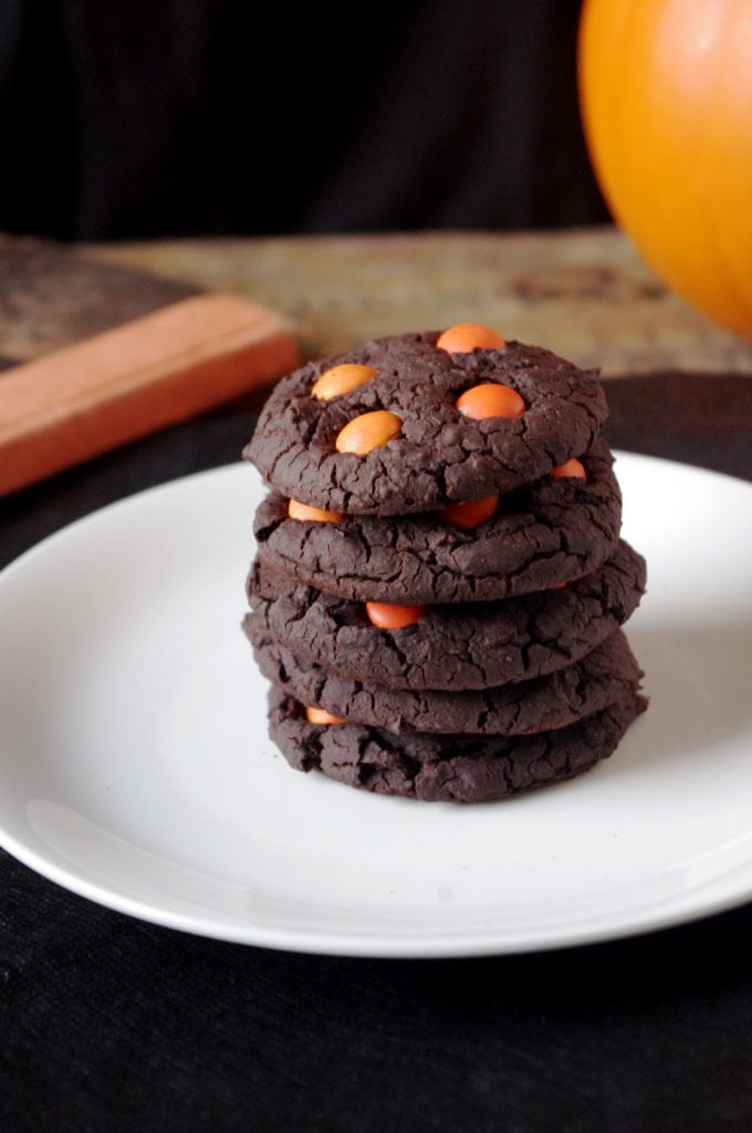 soft & chewy chocolate halloween cookies   nutrition in the kitch