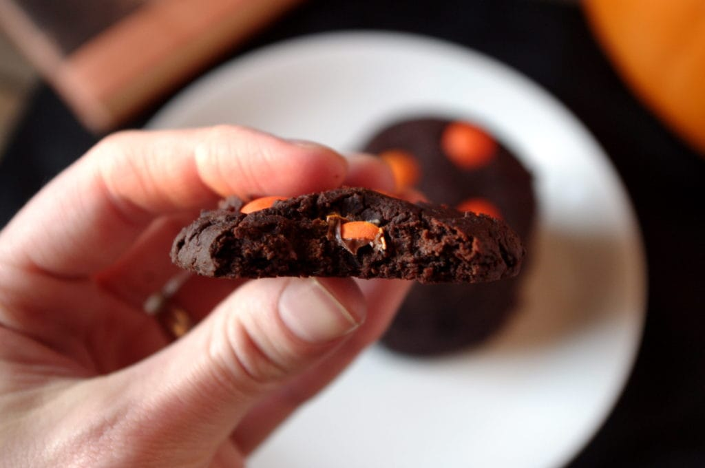 Soft & Chewy Chocolate Halloween Cookies - that are good for you!! :)