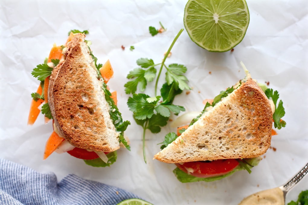 Avocado & Spiced Hummus Sandwich
