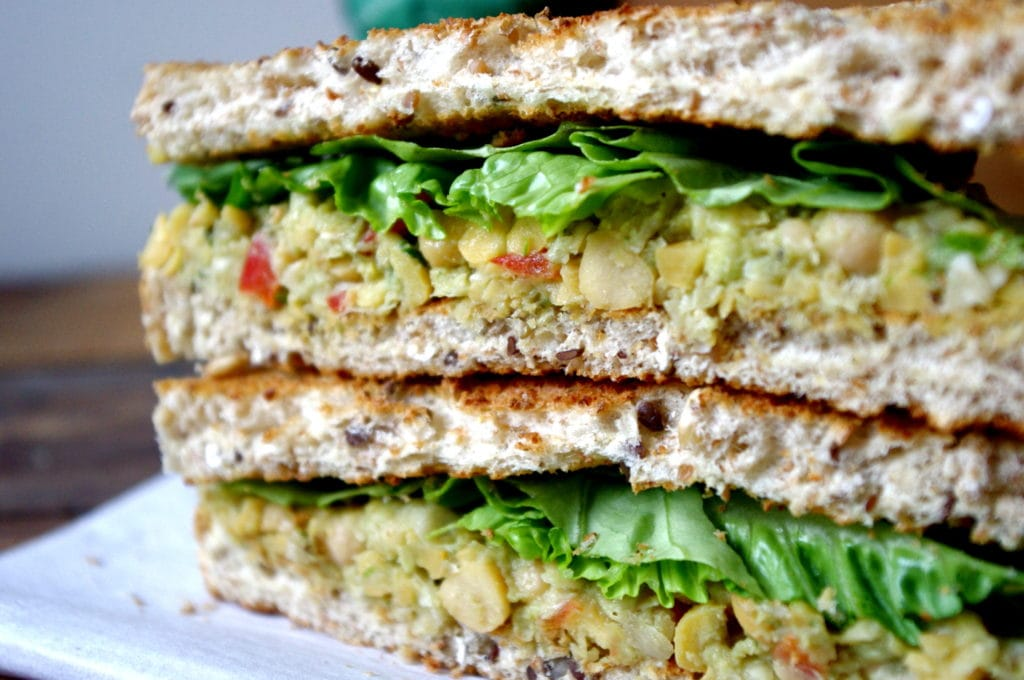 Smashed Chickpea Greek Salad Sandwich Recipe — Dishmaps