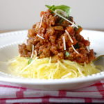 Meatless Monday: Roasted Spaghetti Squash & Veggie Bolognese