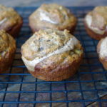 Banana Bread Muffins with Almond Butter Filling