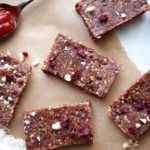 Vegan PB & J Energy Bars via Nutritionist in the Kitch