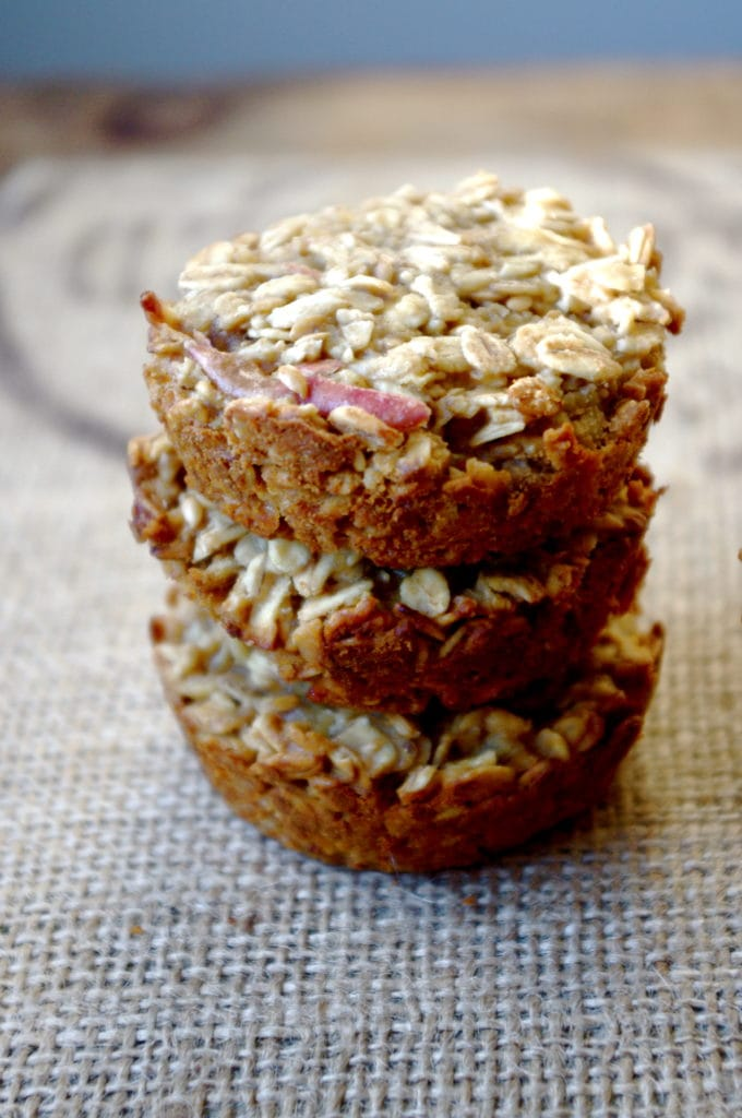 GF Apple & Sunbutter Granola Muffins …with only 4 main ingredients!