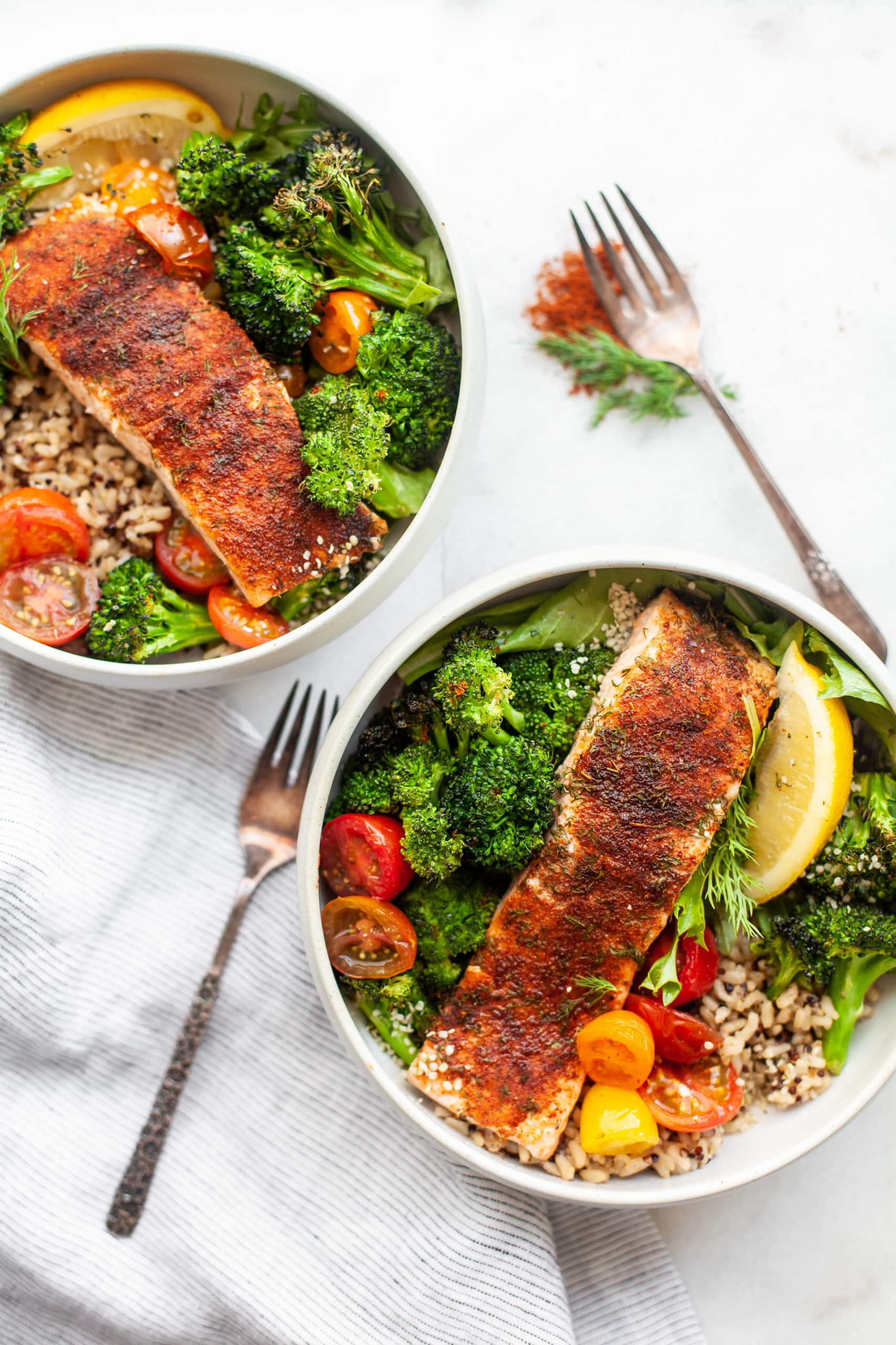 The Most Delicious 20-Minute Sweet Chili Rubbed Salmon Filets