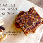 Chocolate Chip Banana Bread Energy Bars (vegan & GF!)