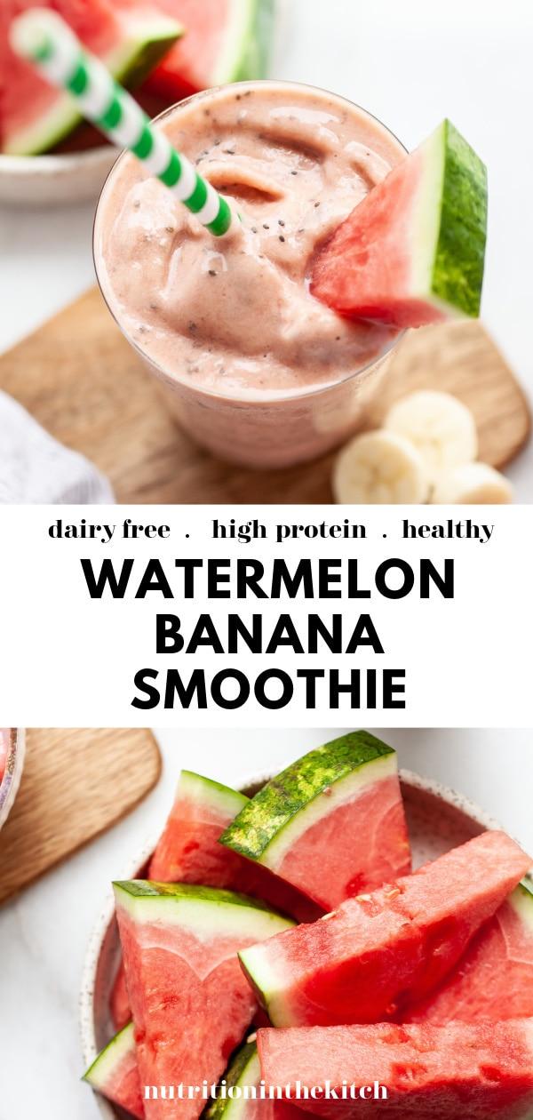 Best Ever Watermelon Banana Smoothie