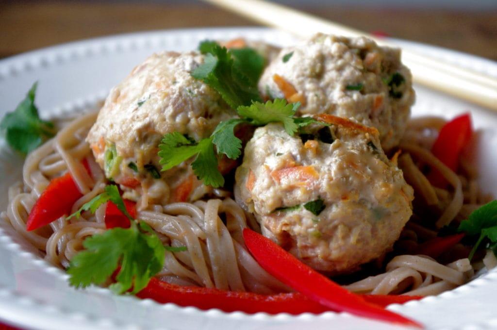 Easy Vietnamese Turkey Meatballs (with gluten free option!)