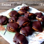 "Clean Eating Dark Chocolate ""Turtles"" …vegan & gluten free delights!"