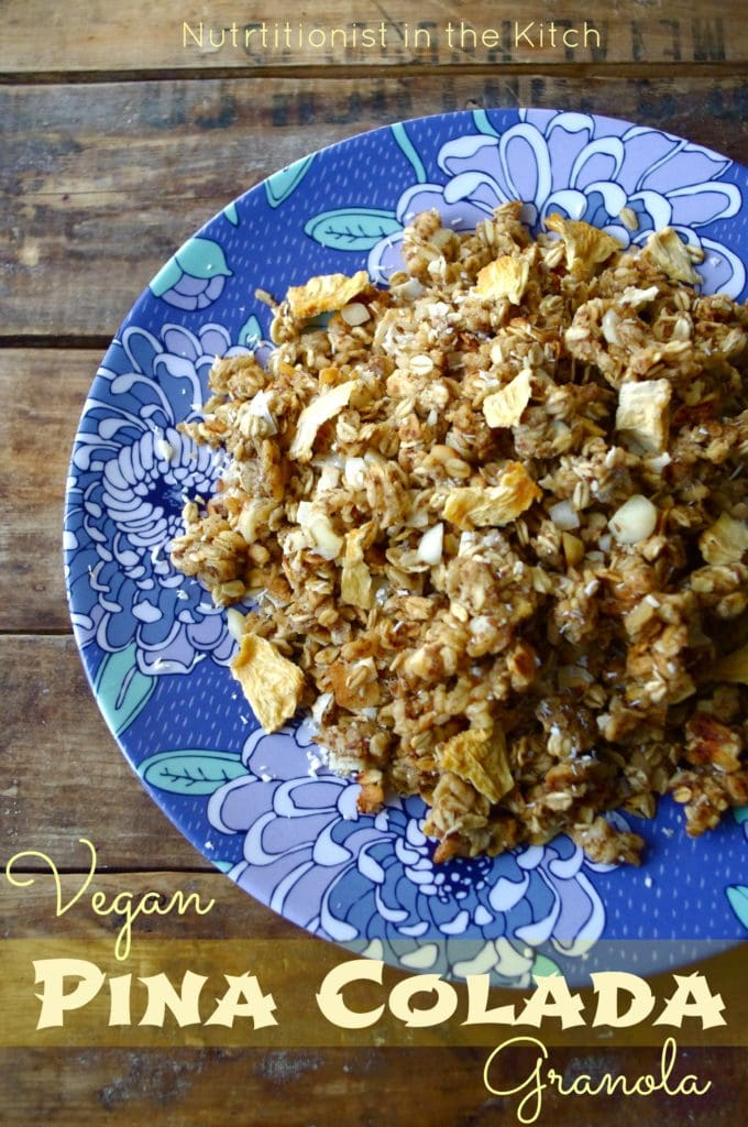 Pina Colada Granola (vegan & can be GF!)