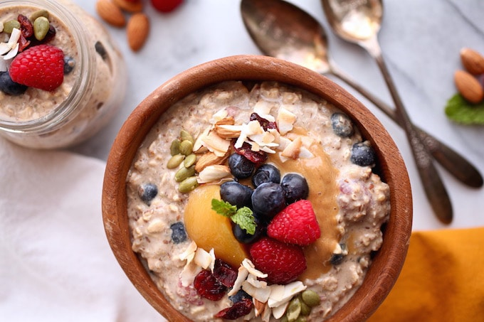 Fruit-Filled Protein-Packed Overnight Quinoa & Oats