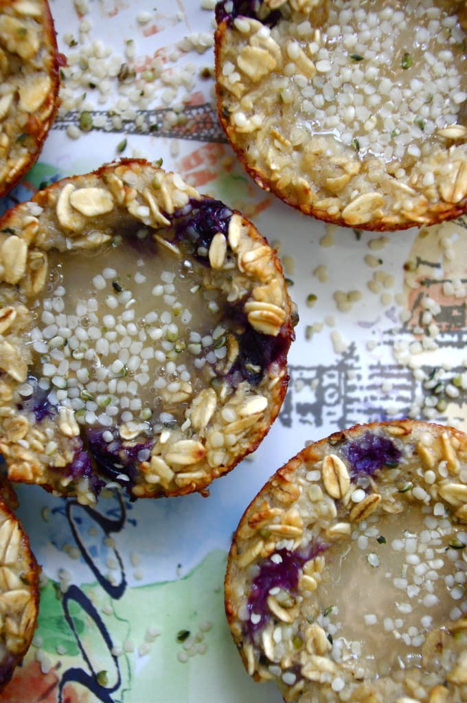 GF Hemp & Honey Blueberry Oatmeal Cups ...and a North Coast Naturals Giveaway via Nutritionist in the Kitch