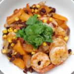 Prawn & Black Bean Bowl – 10 minute dinner!