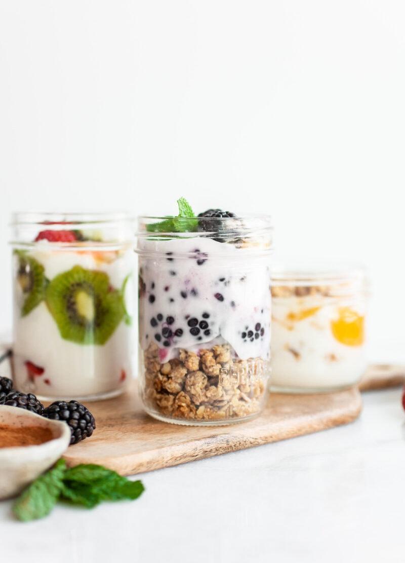 blackberry crunch yogurt in a jar - How To Make Plain Yogurt Taste Good!