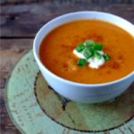 Roasted Cinnamon Sweet Potato Soup …and Challenge Update #2!