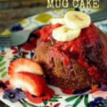 1-Minute Banana Split Mug Cake (Gluten Free!)