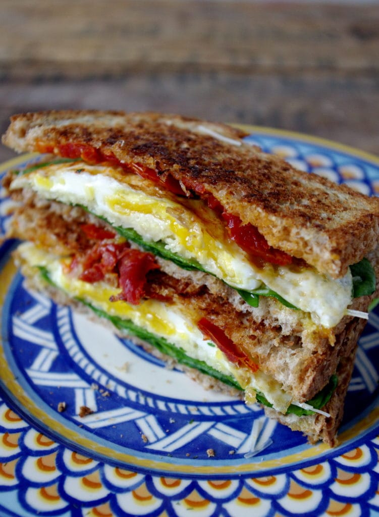 Sundried Tomato, Spinach & Egg Grilled Parmesan (GF Option)