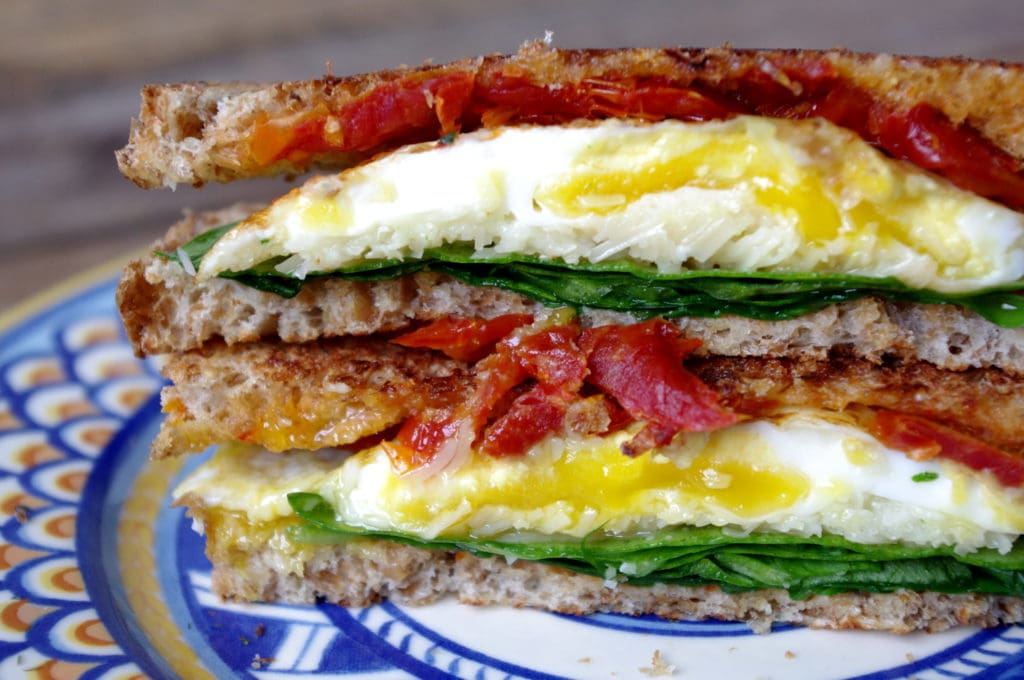 Sundried Tomato, Spinach & Egg Grilled Parmesan (Gluten Free Option ...