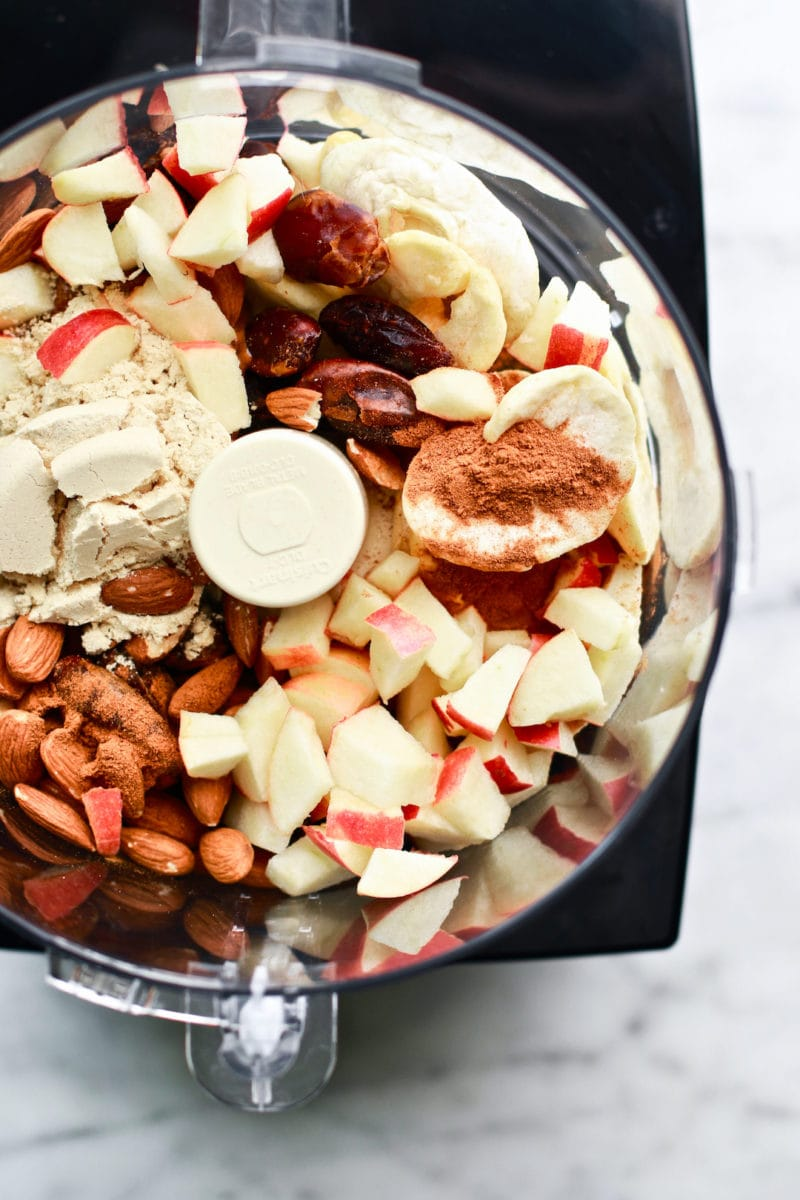 Healthy and Quick No Bake Apple Almond Butter Energy Bites
