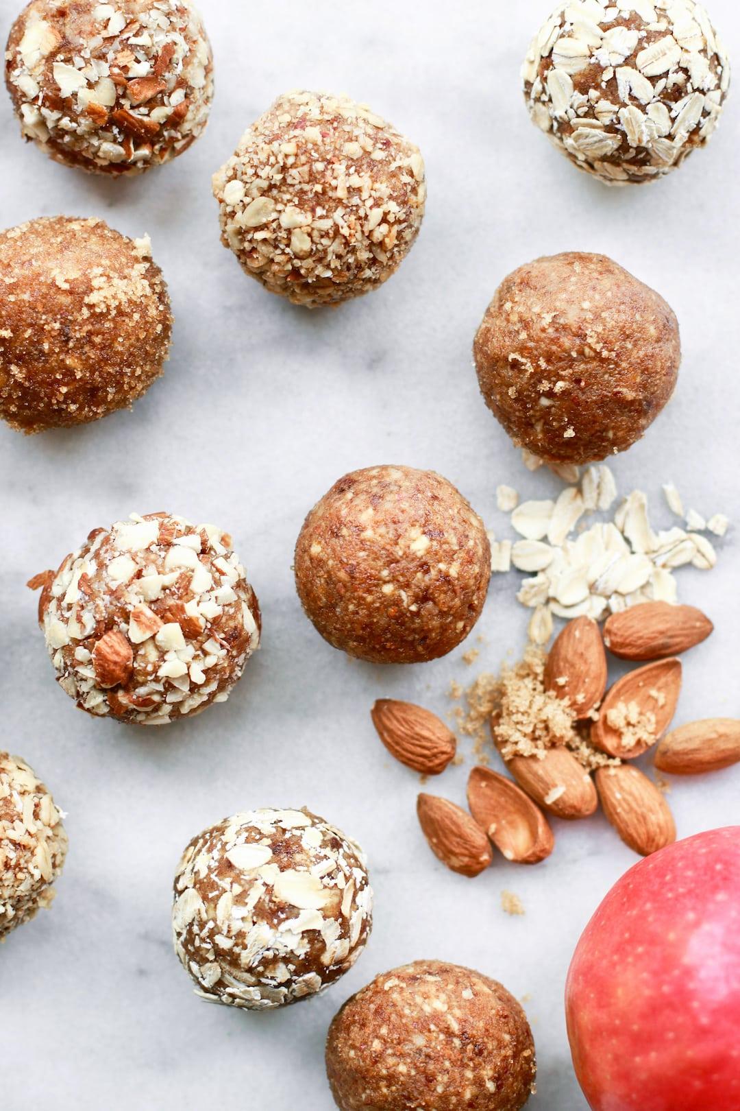 Easy No Bake Apple Almond Butter Energy Bites