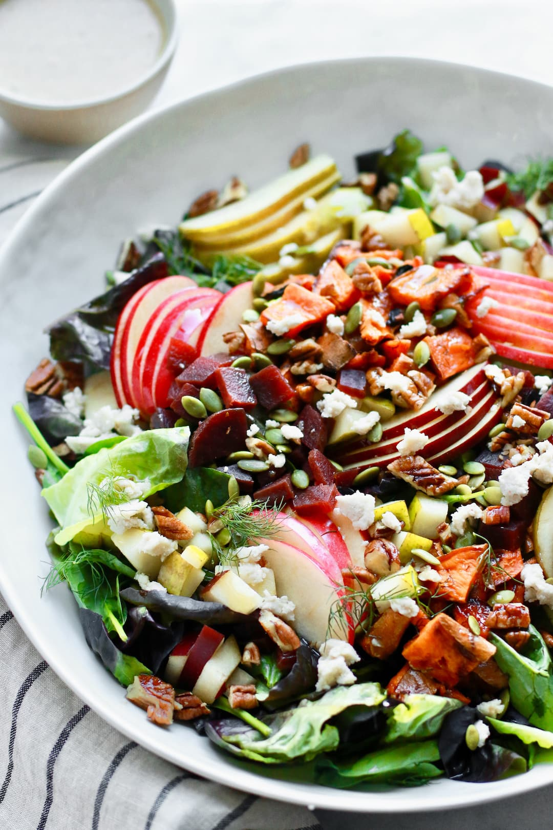 Fall Harvest Chopped Salad with Cranberries and Apple
