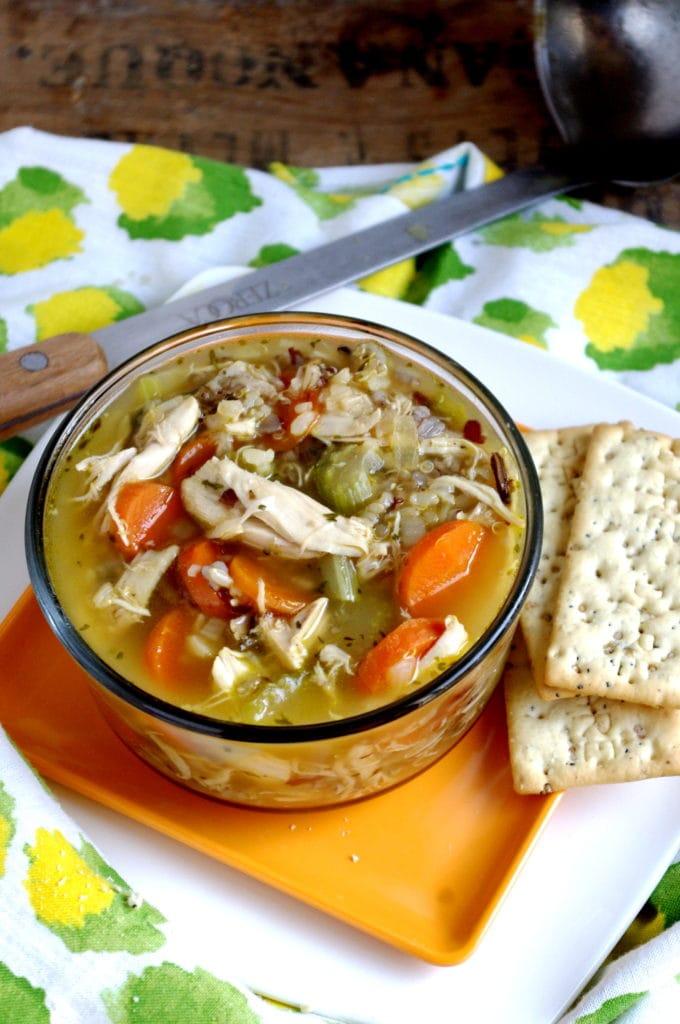 Easy Chicken & Sprouted Rice Stew (gluten free!)