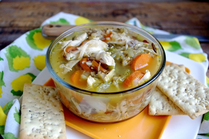Easy Chicken & Sprouted Rice Stew (gluten free!) via Nutritionist in the Kitch