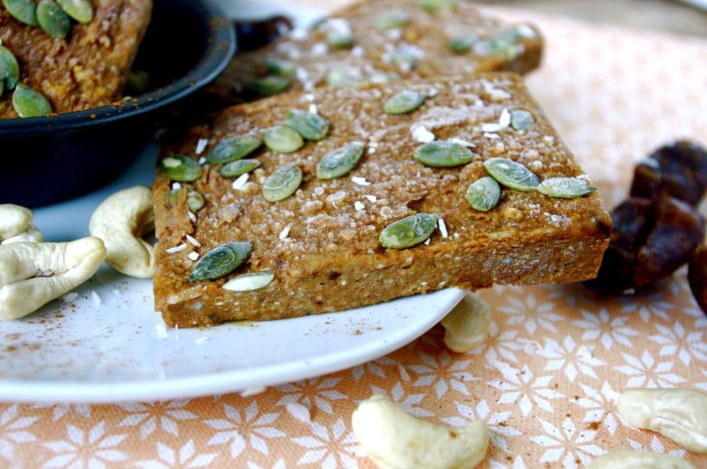 Vegan Pumpkin Pie Energy Bars (gluten free, protein addition optional ...