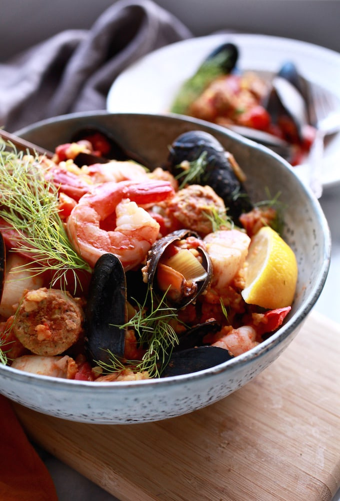 Easy slow cooker paella gf nutrition in the kitch easy slowcooker paella gf df via nutrition in the kitch forumfinder Choice Image