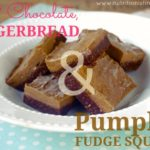 Raw Chocolate Gingerbread & Pumpkin Fudge Squares … a trifecta of awesomeness!! (gluten free, vegan option!)