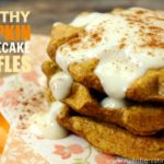 Healthy Pumpkin Cheesecake Waffles (gluten free!) for National Pumpkin Cheesecake Day!