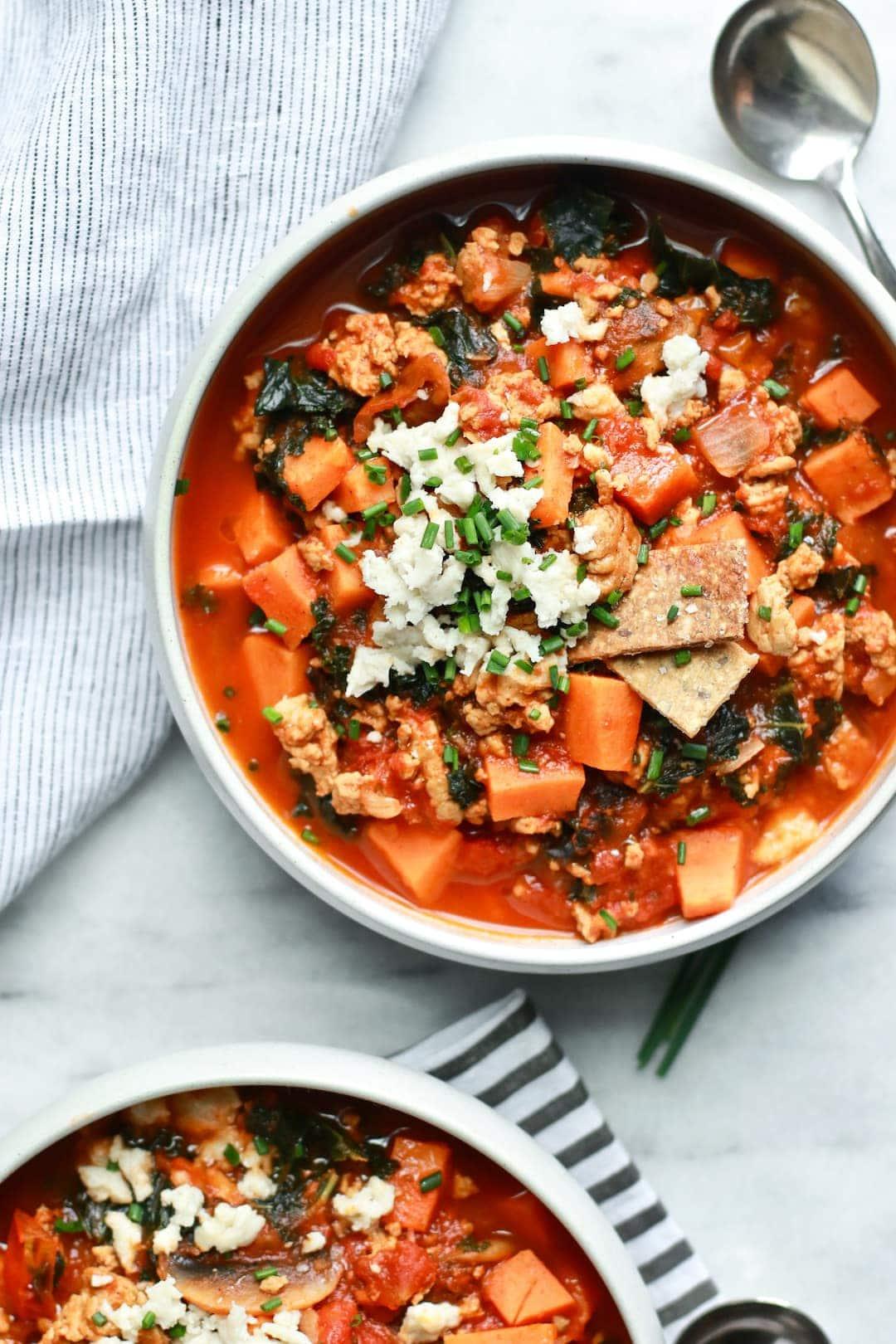 Sweet Potato Healthy 30-Minute No-Bean Chili