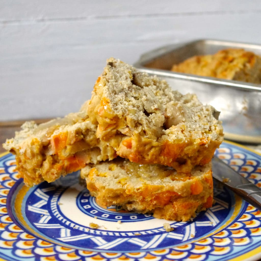 Gluten Free Apple & Cheddar Loaf via Nutritionist in the Kitch