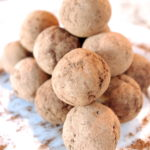 Double Chocolate Cherry Protein Truffles (gluten free & can be vegan too!)