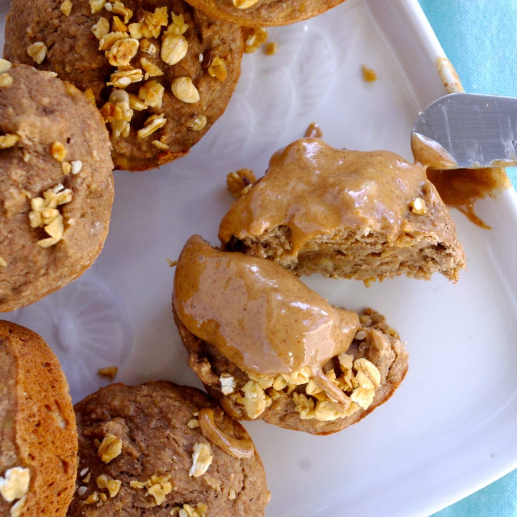 Vegan Protein Banana Muffins via Nutritionist in the Kitch