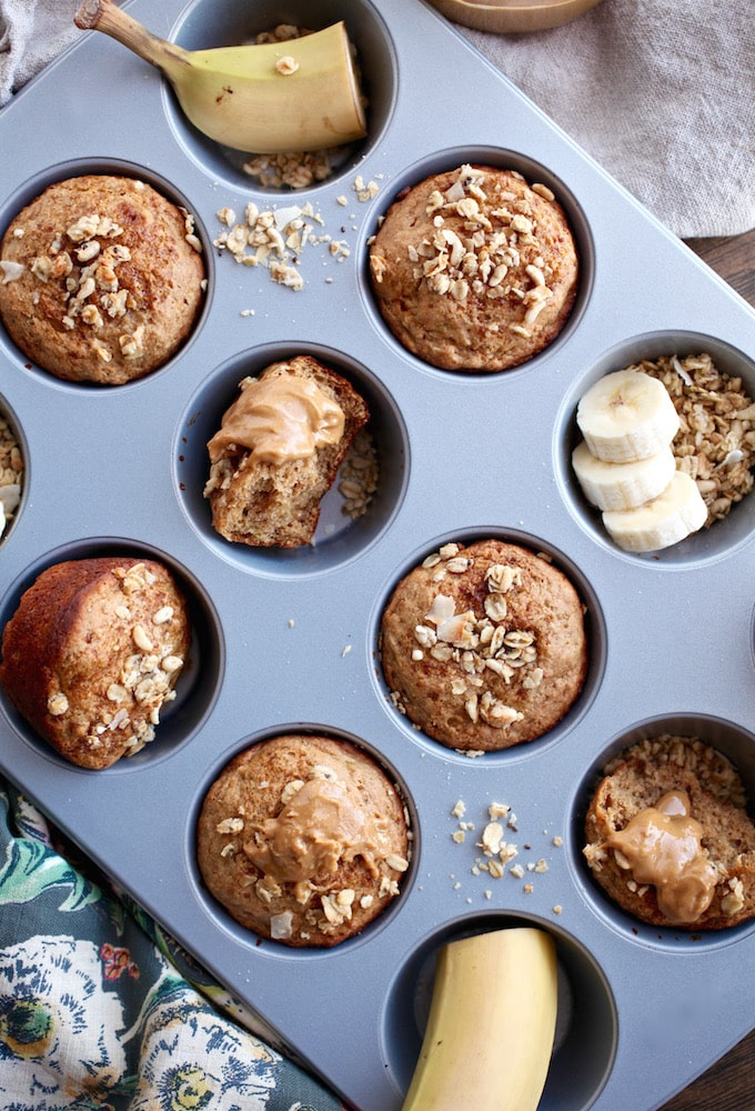Protein Banana Muffins (DF, GF, Vegan) via Nutritionist in the Kitch