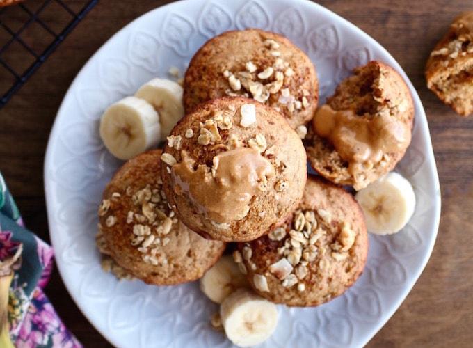 Easy Protein Banana Muffins (DF, GF, Vegan)