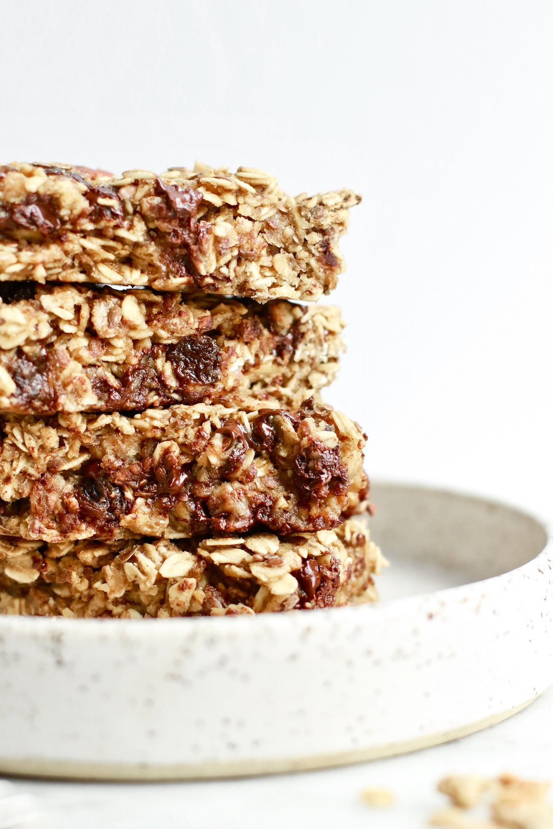 Gluten Free and Dairy Free Healthy Chocolate Chip Granola Bars