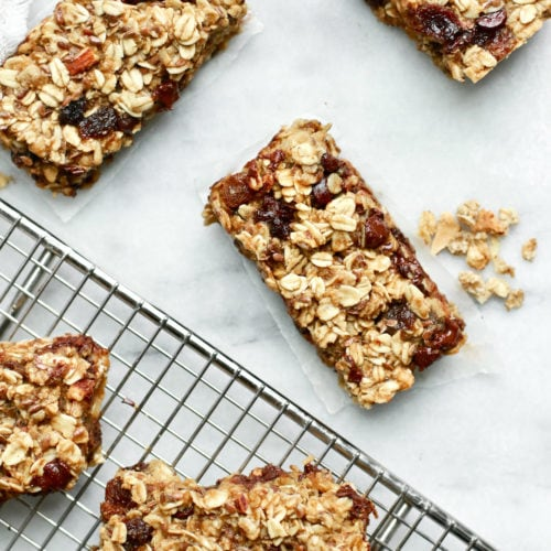 Healthy Chocolate Chip Granola Bars with Raisins