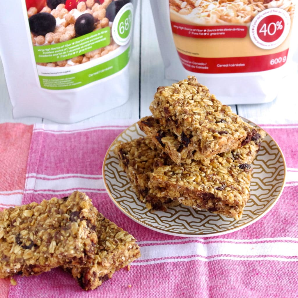 High-Fiber Cranberry Chocolate Granola Bars & An Awake Cereals ...