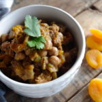 Slow Cooker Chicken & Chickpea Tagine (GF and a Vegan Option!)