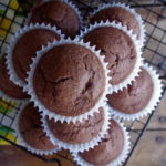 Vegan Double Chocolate Spelt Muffins